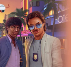 Miami Vice -hahmot tyllin Tubbs & Crocket